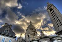 A sunset in Sacre Coeur
