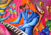 Funky POP images - Jazz player