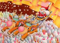 Christmas illustration - Busy reindeer