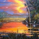 """Fire Sky Birds"" by mazz"