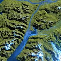 Huemules National Parc (Chile) : Satellite image