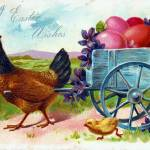 """Hen pulling cart postmarked April 17, 1908"" by angelandspot"