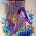 """Birds and Bird House Birthday"" by angelandspot"