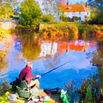 """""""Fishing at Bures Mill"""" by michaelbond"""