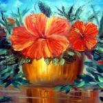 """Hibiscus Painting"" by mazz"