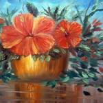 """Hibiscus in the Flower Pot"" by mazz"