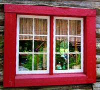 Logcabin Inn window