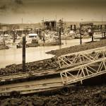 """""""Pier at Port McNeill BC Harbor"""" by sandybuckley"""