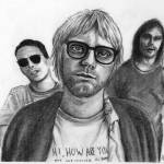 """Nirvana Portrait Drawing"" by ArtByAlycia"