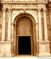 The Entrance to Basilica of Bom Jesus