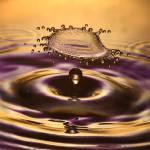 """Flying Purple-Gold Splash"" by Drippy2009"