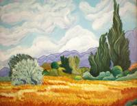 Wheatfield with Cypress