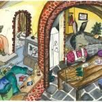"""Asbo wolf"" by Rachelpeglerartworks"