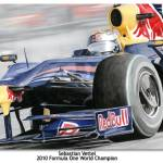 """POSTER: Sebastian Vettel - 2010 F1 World Champion"" by Kart-Race-Art"