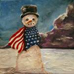 """Patriot Snowman"" by DeniceTaylorRinks"