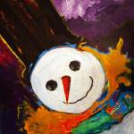 """Whimsy Snowman"" by DeniceTaylorRinks"