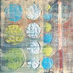 """Encaustic Abstract Balls"" by JonathanDeutsch"