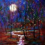 """Moonlight and Fireflies"" by jeanvadalsmith"