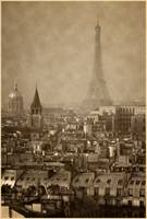 Paris skyline verticle