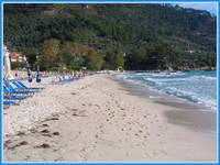 GOLDEN BEACH   THASSOS GREECE.