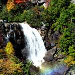 """Fall Falls on Whitewater Falls (with Rainbow)"" by 1blessedmom"