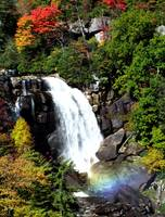 Fall Falls on Whitewater Falls (with Rainbow)