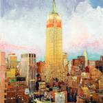 """Manhattan Dawn, Empire State Building, New York"" by BeaconArtWorksCorporation"