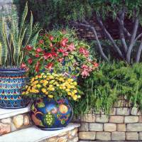 Painted Pots Art Prints & Posters by Mary Palmer