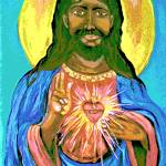 """Black Jesus Sacred Heart1"" by CASB"