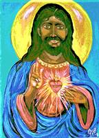 Black Jesus Sacred Heart1