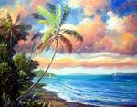 Sailing the Lagoon by Mazz Original Paintings