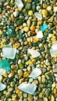 Colorful Pebbles & Glass