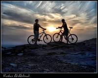 sunset & bike's