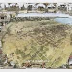 """Santa Barbara Aerial View 1898"" by lookbackart"