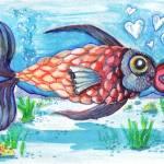 """Love Fish"" by ArtByRach"