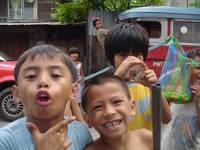 kids in malabon, philippines