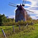 """isle-de-coudre-windmill-16x12"" by sacorivergraphics"