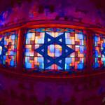 """stainglass star of david"" by AES"