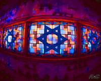 stainglass star of david