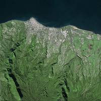 Saint-Denis (Reunion Island) : Satellite image