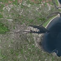 Dublin (Ireland) : Satellite image