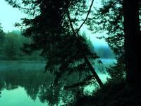 Lacamas Lake Bending Time In The Morning Mist