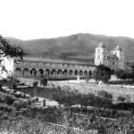 """""""Santa Barbara Mission and Garden"""" by lookbackart"""