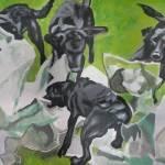 """collaboration working dog artist"" by sueg355"