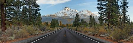 Mount Shasta and Road, California, USA