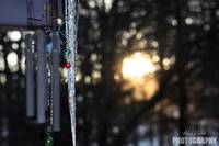 ice, wind chimes, and the sun