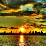 """Sunset over Boston"" by KathrynPostulka"