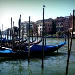 """Gondolas in a row"" by sylviacook"