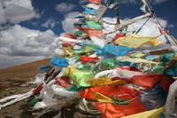 Prayer Flags in the Wind (Tibet)