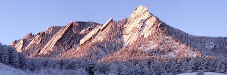 Flatirons Winter Panorama